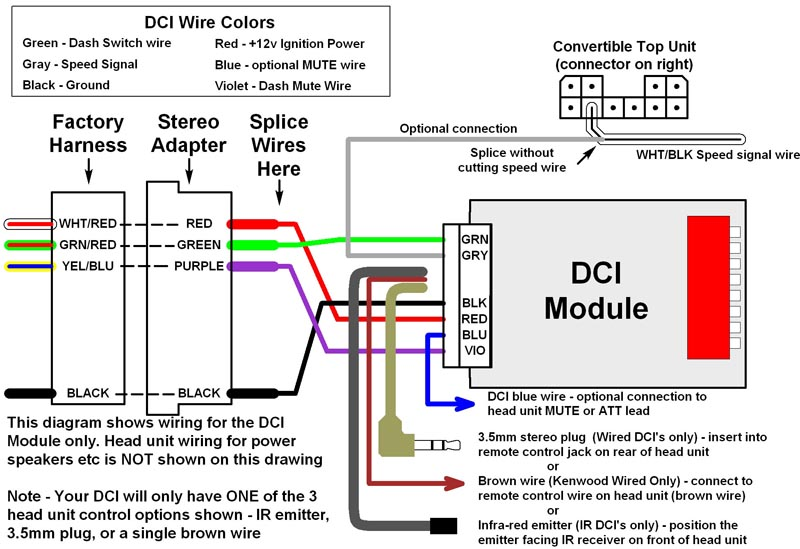 DCI 2 Wiring .400 modifry's s2000 dci installation Kenwood Wiring Harness Colors at virtualis.co