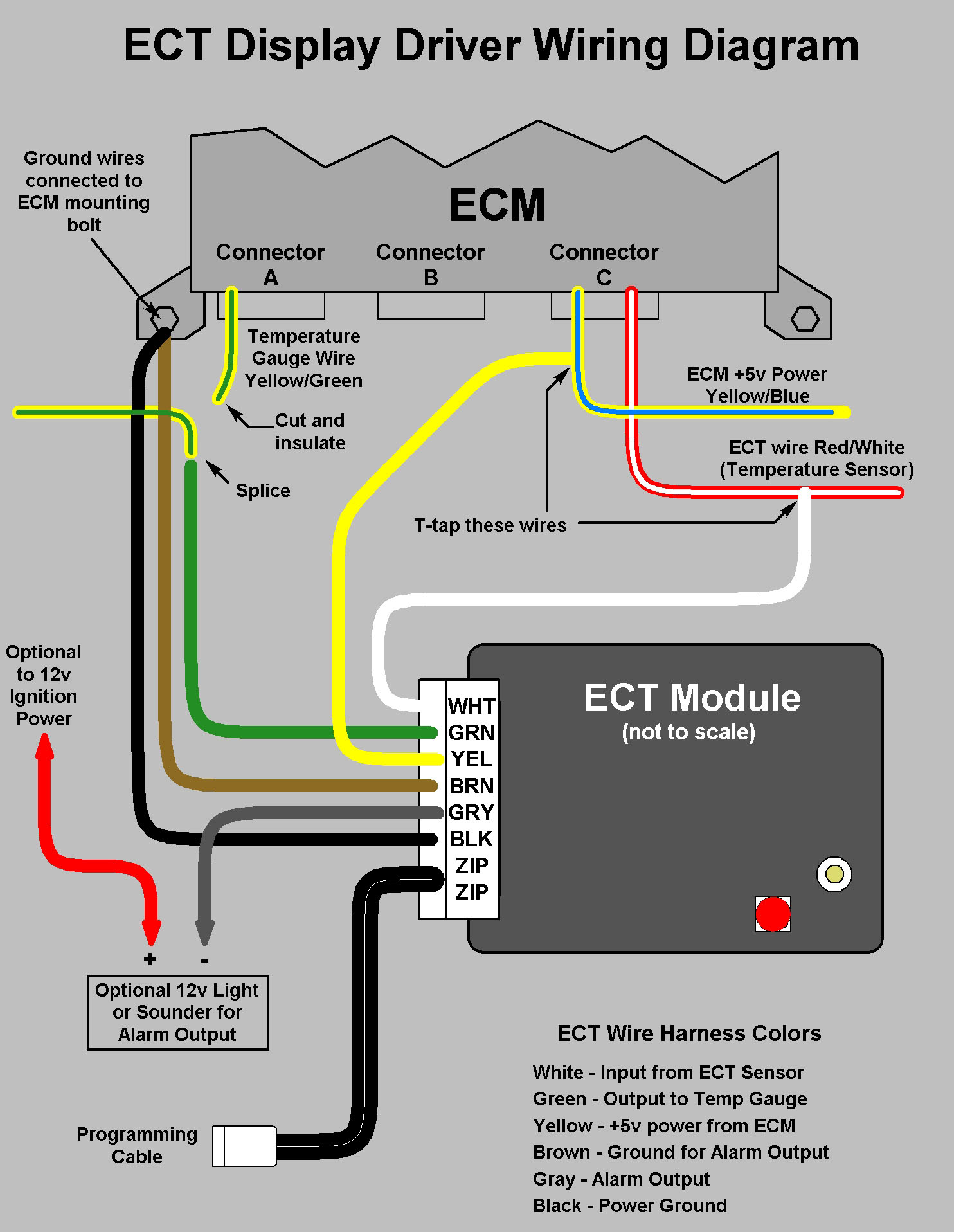 ECT wiring diagram modifry's s2000 ect installation engine coolant temperature sensor wiring diagram at bayanpartner.co